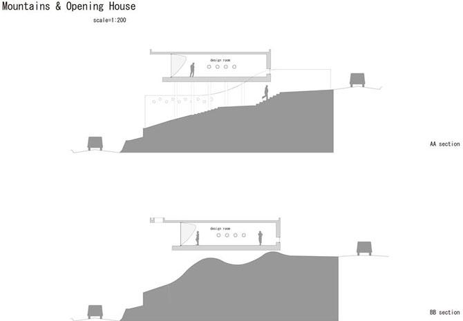 Mountain & Opening 17 - Interior Architecture Art