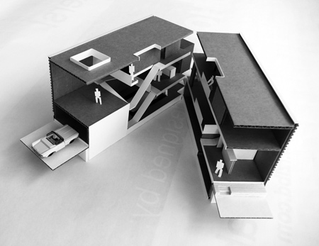 5 of 6 House - concept model - Interior Architecture Art