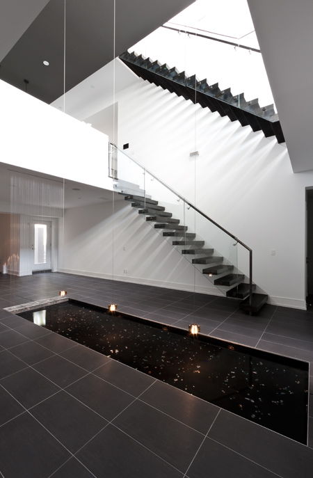 5 of 6 House - stairs reflection pool - Interior Architecture Art