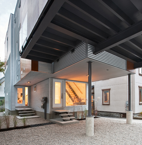 Front To Back Infill - Exterior 4 - Interior Architecture Art