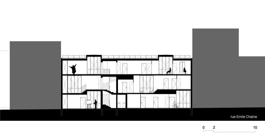 Tetris, Social Housing + Artist Studios - Plan 10 - Interior Architecture Art