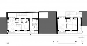 Tetris, Social Housing + Artist Studios - Plan 2 - Interior Architecture Art