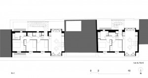 Tetris, Social Housing + Artist Studios - Plan 3 - Interior Architecture Art