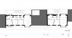 Tetris, Social Housing + Artist Studios - Plan 3 - Interior Architecture Art