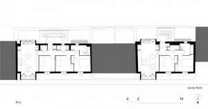 Tetris, Social Housing + Artist Studios - Plan 4 - Interior Architecture Art