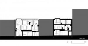 Tetris, Social Housing + Artist Studios - Plan 5 - Interior Architecture Art