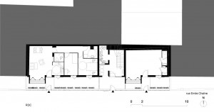 Tetris, Social Housing + Artist Studios - Plan 7 - Interior Architecture Art