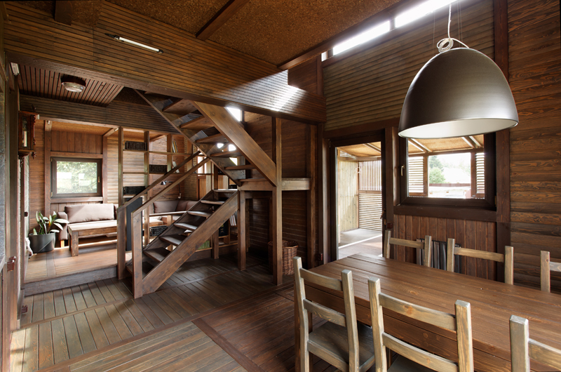 Wood Patchwork House 11 - Interior Architecture Art