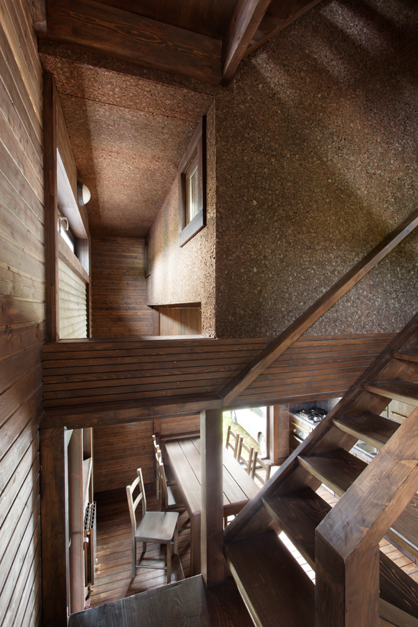 Wood Patchwork House 5 - Interior Architecture Art