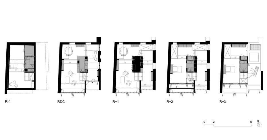Maison Escalier Plan 3- Interior Architecture Art