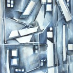 Back Alley Abstract by Sandra Duba-Shubs 1 - Interior Architecture Art