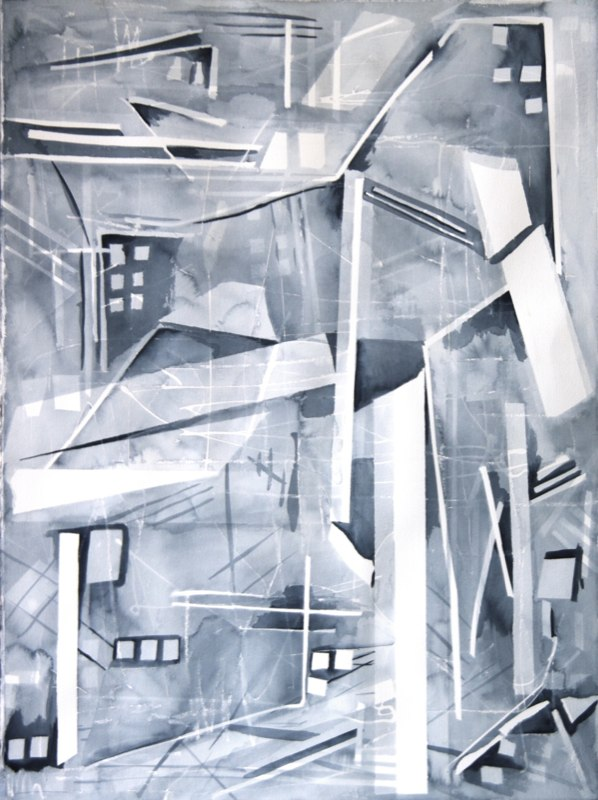 Back Alley Abstract by Sandra Duba-Shubs 3 - Interior Architecture Art