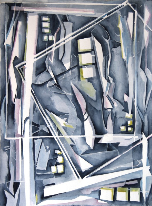 Back Alley Abstract by Sandra Duba-Shubs 5 - Interior Architecture Art