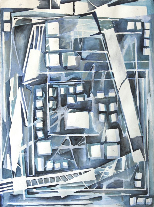 Back Alley Abstract by Sandra Duba-Shubs 8 - Interior Architecture Art